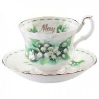Royal Albert Flower of the Month May Teacup & Saucer MADE IN ENGLAND