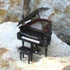 Boîte à musique Love Story Musik Miniature Piano à queue avec Tabouret de