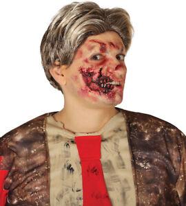 Halloween Zombie CHEEK Prosthetic Wound Latex Scar Blood Make Up Fancy Dress