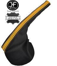BLACK YELLOW LEATHER HANDBRAKE BOOT FITS FORD FALCON BA BF FPV GT XR6 XR8 02-07