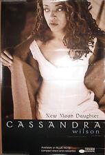Cassandra Wilson New Moon Daughter, Blue Note promo poster, 1996, 20x30, Vg+