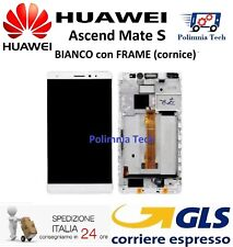 DISPLAY HUAWEI MATE S BIANCO con FRAME (cornice)  LCD TOUCH COMPLETO  GLS 24/48h
