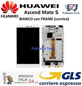 DISPLAY HUAWEI MATE S BIANCO con FRAME LCD TOUCH COMPLETO CRR-L09 CRR-UL00