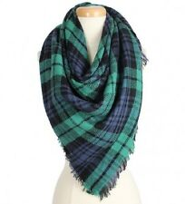 Green and Multi Colored Blanket FASHION Scarf