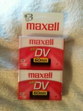 Maxell Mini DV 60 Minute Tapes 2 Pack New in Package