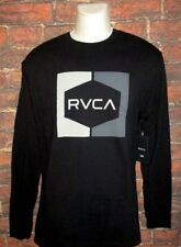MENS RVCA LONG SLEEVE BLACK T-SHIRT SIZE L