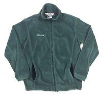 Columbia Women's S Full Zip Jacket Fleece Coat Army Hunter Green Pockets Small