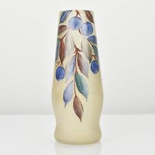 Antique French Legras Montjoye Floral Enameled Art Glass Vase Art Nouveau