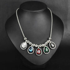Rhinestone Alloy Chunky Costume Necklaces & Pendants