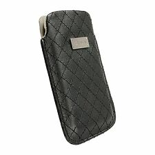 Krusell Black Case Cover Pouch Sleeve PU Leather for Mobile Phone iPhone 4 4S 5