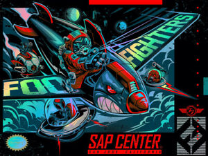 Foo Fighters Poster 9/12/18 San Jose CA Signed & Numbered #/40 A/E Foil Rare!!!