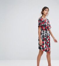ASOS NWT $87 Closet London Cap Sleeve Dress Wrap Skirt and Pleat Detail sz 10