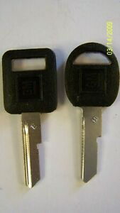 GM OEM Plastic Head key blanks E-H