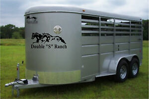 Horse Trailer Stripes Swooshes Decal Stickers Graphics Vinyl Equestrian Decals