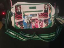 New* Playboy ❤️ Womens White shoulder bag with green detail ☆100% Genuine☆Retro☆