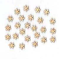 Blume Streublume 1,5cm 25Stk für Tischdeko Kommunion Firmung Holz Scrapbooking