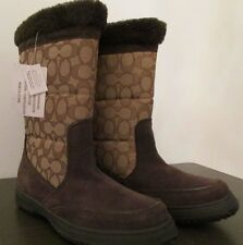 Coach Sherman Signature Winter Boots Brown A00771 Size 7