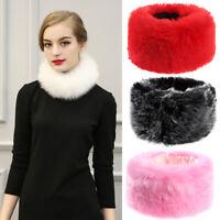 Fluffy Soft Women Elegant Artificial Fur Collar Scarf Thicken Warm Dress Scarfs
