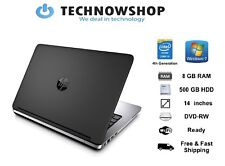 Cheap Windows 7 Laptop HP 640 G1 Core i5 4th Gene 8GB RAM 500GB Webcam DVD WiFi