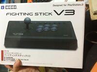 DHL HORI Fighting Stick V3 (HP3-59) Playstation 3, PS3, PC USB Arcade Controller