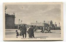 Necochea - Rambla y Necochea Hotel - Argentina postcard from 1925