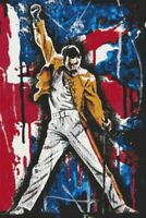 Freddie Mercury Counted Cross Stitch Kit -  DMC - UK - Queen