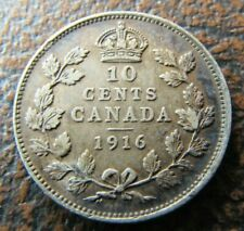 1916 Canada KING GEORGE V 10 Cents