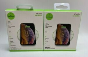 2 Belkin Studio 5W Universal Wireless Charging Pad Qi-Smartphones Apple Samsung