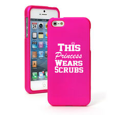 For iPhone 4 5 5S 5c 6 6s Plus Rubber Hard Case This Princess Wears Scrubs Nurse