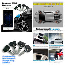 1X TPMS IOS Tire Pressure Monitor Alarm System Bluetooth 4.0 4 Internal Sensors