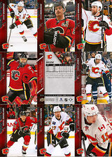 2015-16 UD Upper Deck Calgary Flames Regular + Canvas Team Set (21)