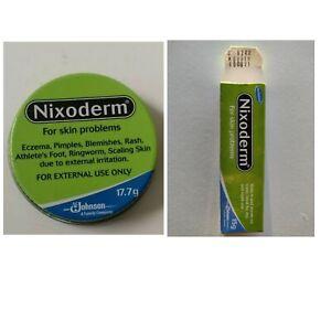 2 x NIXODERM FOR SKIN PROBLEMS ACNE RASHES BLEMISHES PIMPLES TUBE & TIN