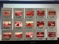 15 diapositives pedagogiques en couleurs. Une journée à Moscou. 1965