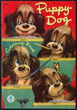 "UNCOLORED ""Puppy-Dog Coloring Book"" #1508 Merrill 1952 (5394)"