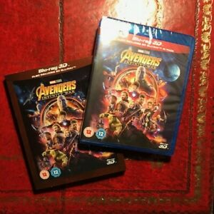 3D + Blu Ray (The Avengers Infinity War) NEW 2018 (Marvel Movie) plus 2D BLURAY