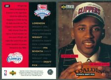 Lorenzen Wright 1996-97 Upper Deck CC NBA Rookie Draft Trade Card DR7 NM