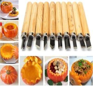 12 PCS  Pumpkin Carving Tools Set Steel Halloween Xmas DIY Sculpting Craft Kit