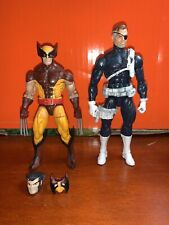 Marvel Legends Figure Lot Comic Nick Fury Retro Wolverine Loose