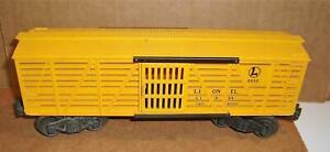 Lionel Post War 6656 Yellow Stock Car EX