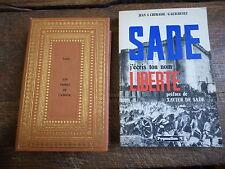 lot de 2 livres de et sur Sade  : Les crimes de l'amour  - Sade j'écris ton nom