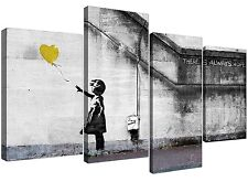 Canvas Prints of Banksy Balloon Girl in Yellow for Your Living Room