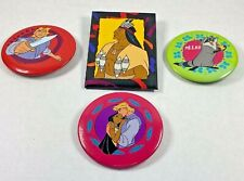 Lot of 4 1990s Rare Vintage Pocahontas Buttons Pins Disney Flit Meeko John Chief