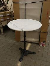 Bistrotisch Outdoor Gastro mit Marmor und Gusseisen 60cm Tisch 2 Stück NEU