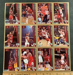 1992-93 FLEER MICHAEL JORDAN CHICAGO BULLS UNCUT CARD SHEET (AA) 92321