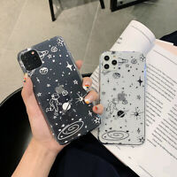 Cool Cartoon Astronaut NASA Clear Cover For iPhone 11 Pro Max 7 8 Plus XR Xs Max