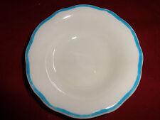 vintage Buffalo china restaurant ware sauce/dessert bowl - blue trim scalloped