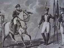 Gravure EMPIRE GENERAL COMTE GAMBIN GRAZ WAGRAM AUTRICHE 1809 NAPOLEON 1815