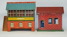 """PRE-WAR"" MECANNO TIN LITHO TRAIN OBSERVATION  BLDG. & CHEIN ""PARKVILLE"" STATION"