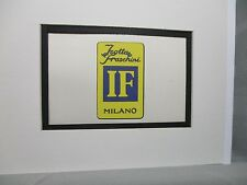 Isotta Fraschini Italy    Car Emblem Decal by Artist Color Illustration Exhibit