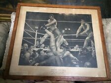 RARE Old Dempsey Firpo Boxing Print George Bellows Exhibited At Met Museum NYC